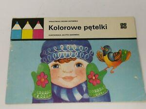 Collectible-Vintage-Polish-1978-Kid-039-s-Kolorowe-Petelki-Colouring-Book