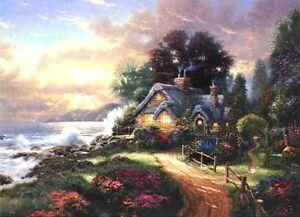 Thomas-Kinkade-A-New-Day-Dawning-Classic-Edition-12x16-Framed-Canvas
