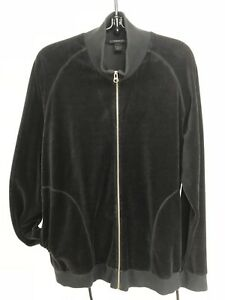 Express-black-fleece-zip-jacket-women-039-s-L-oversized-large-pockets-gently-used