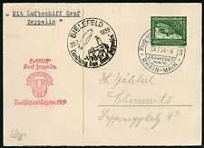 317/Zeppelin Dt. Reich 1939 Fahrt nach Bielefeld Postkarte EF Si 459