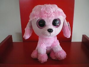 7f5dc62f1c7 Ty Beanie Boos PRINCESS poodle 6 inch NWMT.RETIRED SOLID EYES ...