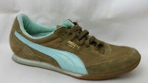 Puma Lab 2 Blue Khaki Green Sneakers Casual Tennis Shoes Womens 9.5 ... f87d6063c