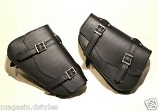 2 sacoches latérale en Cuir pour harley Sportster - sportster bag left and right