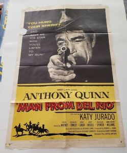 MAN-FROM-DEL-RIO-1956-Original-Movie-Poster-One-Sheet-27-034-x-41-034-ANTHONY-QUINN
