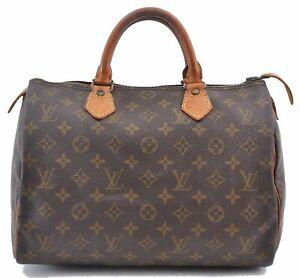 Authentic Louis Vuitton Monogram Speedy 30 Hand Bag Old Model LV B4485