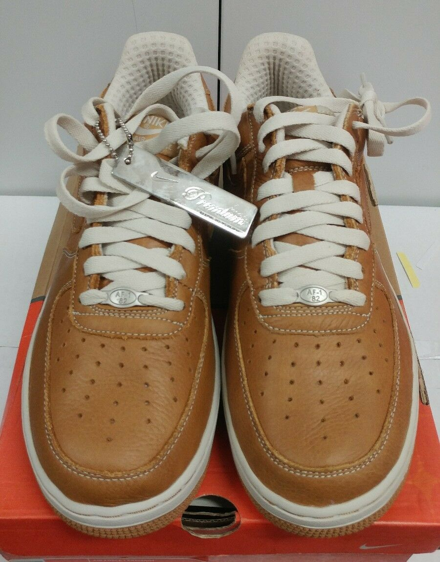 DS NIB 05' Men's Nike Air Force 1 Premium Maple Birch 309096-222 EUC Rare sz 10