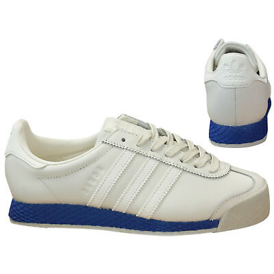 Adidas Originals Samoa Vintage Mens Leather Trainers Chalk White Blue BB8598 M16