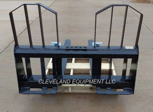 "48/"" WALK THROUGH PALLET FORKS /& FRAME ATTACHMENT Takeuchi Case Skid-Steer Loader"