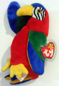 JABBER™ THE PARROT TY™ 5TH GEN BEANIE BABY 1998 RETIRED WITH ERRORS ... c405449f5b39
