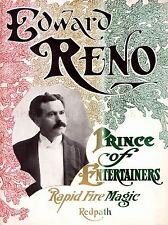 RENO THE MAGICIAN FILES VINTAGE ADVERTISING REPRO POSTER ART PRINT 550PYLV