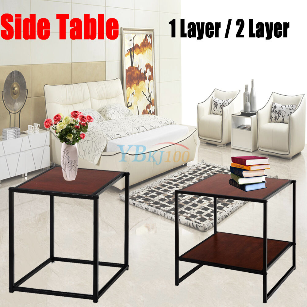 12layer coffee end table wood modern living room furniture decor nightstand