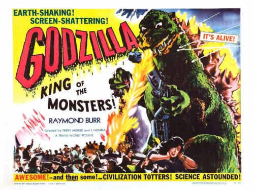 1956 GODZILLA VINTAGE MOVIE POSTER PRINT 36x48 BIG 9MIL PAPER