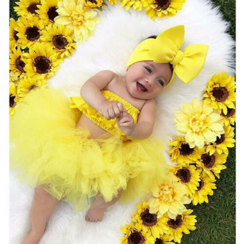 Newborn Girl Baby  Infant  Clothes Skirt Tops+Tutu Off Shoulder Outfits
