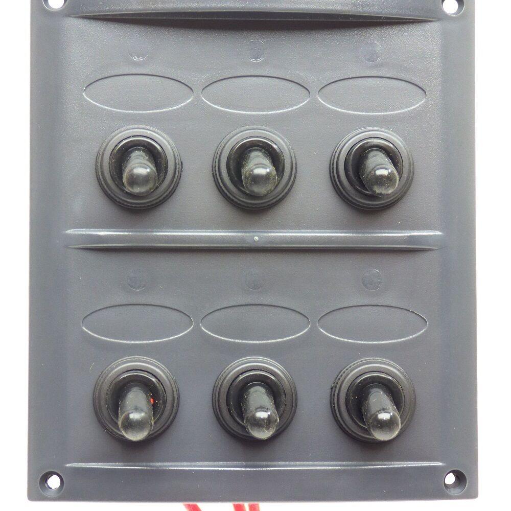 Wasserdichte Schalterplatte • Material: UV-stabilisierte UV-stabilisierte Material: Kunststoffplatte, grau c407af