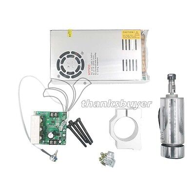 CNC 400W Spindle Motor+Mach3 PWM Speed Controller + Mount+ Power for Engraving