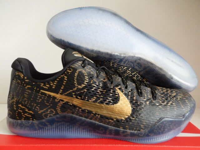 3bd750027c68 2016 Nike Kobe 11 Elite Low Mamba Day ID Black MET Gold Sz 13 (0609 ...