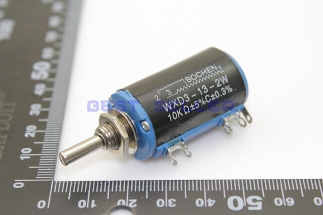 2x Multi-Turn Wirewound Potentiometers WXD3-13 10K OHM