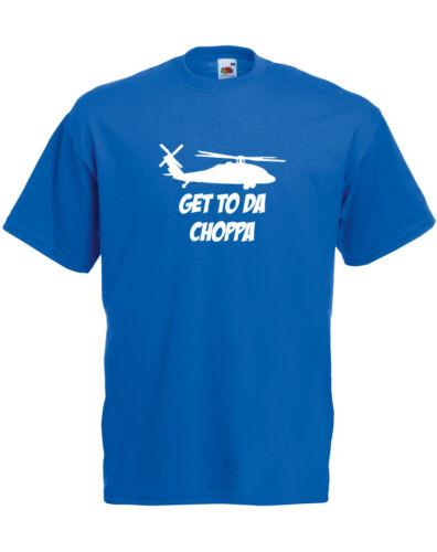 Get To The Choppa Alternate Predator inspired Men/'s Printed T-Shirt Cool TShirt