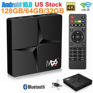 US 128GB Android 10.0 Quad-core TV BOX 4K 2.4G 5G Wifi HDMI Smart Media Player