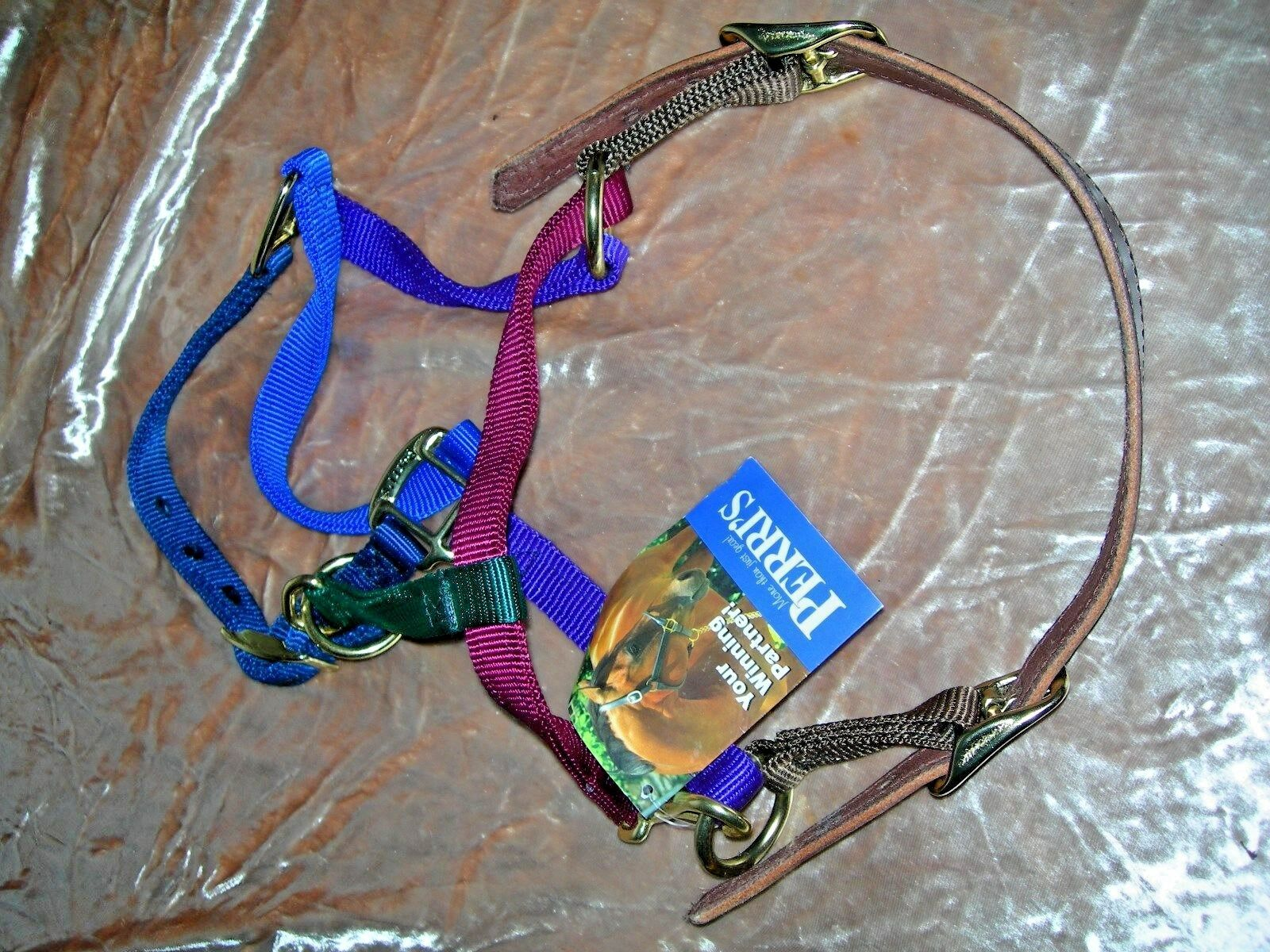 Perri's Yearling Multicolord Safety Halter, Made in USA