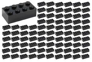 100-NEW-LEGO-2x4-BLACK-Bricks-ID-3001-BULK-Parts-star-wars-Starwars-lot