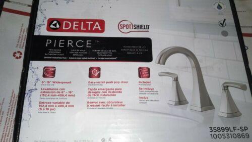 Delta Pierce 8 in Widespread 2-Handle Bathroom Faucet  SpotShield Brushed Nickel