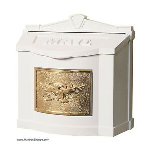 Gaines Metal Wall Mount Mailbox Eagle Plate Mail Box