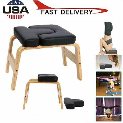 yoga inversion chair yoga headstand bench with wood frame