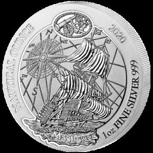 Ruanda-Nautical-Ounce-Mayflower-2020-1-oz-50-Francs-999-Silbermunze-Schiff
