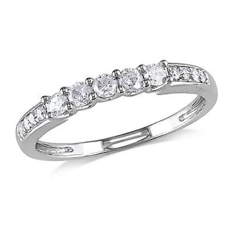 14k White gold 1 3 CT Diamond TW Fashion Ring GH I1-I2