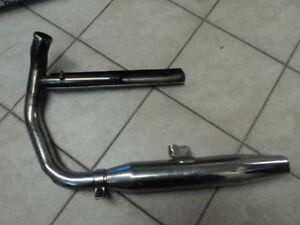 Vintage-Harley-Davidson-Motorcycle-OEM-Exhaust-Pipe-Muffler-Used
