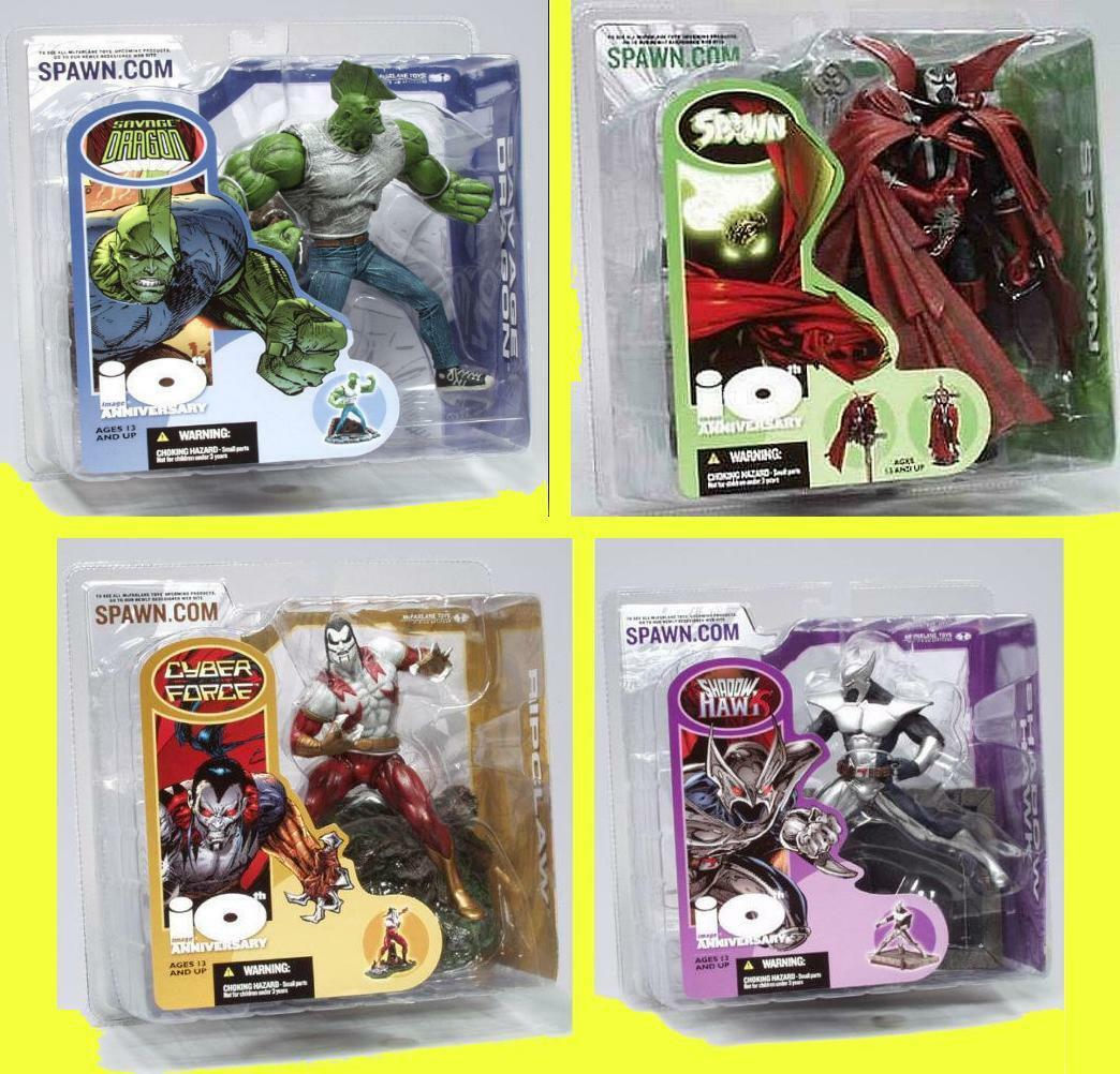 10th Anniversary Spawn 4 Figure Set  2002 McFarlane Toys Image Comics  Amricons