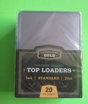 20 Point Pack of 25 Cardboard Gold Standard 3x4 Clear Rigid Top Loaders