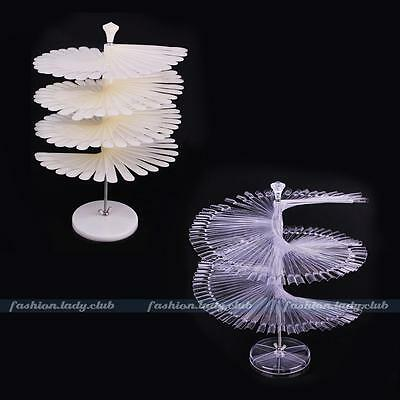 120 Acrylic False Nail Art Tips Polish Practice Pro Manicure Stand Fans Display