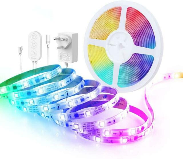 Govee LED Strip Lights, 5m Music Sync App Control Lighting Strip Kit, RGBIC Rope