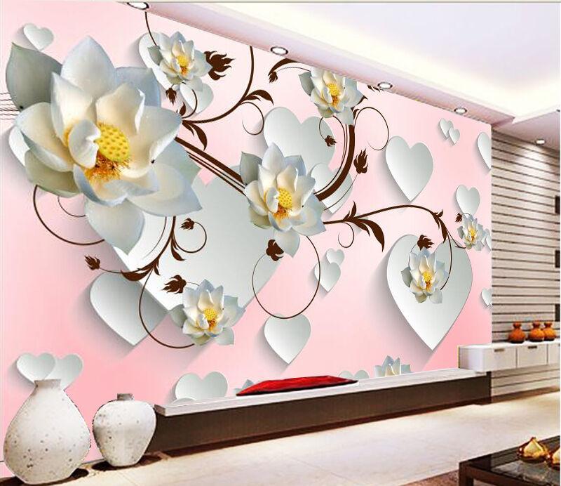3D Weiß Herz  Fototapeten Wandbild Fototapete Bild Tapete Familie Kinder  | Preiszugeständnisse  | Um Zuerst Unter ähnlichen Produkten Rang  | Fein Verarbeitet
