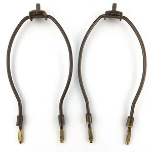 Lot-of-2-Vintage-Brass-Lamp-Harps-Pivot-Hardware-MCM-Mid-Century-Modern-S251