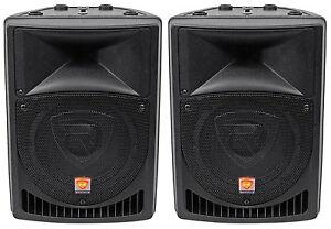 Pair-Rockville-Power-Gig-RPG8-8-034-Powered-Active-800-Watt-2-Way-DJ-PA-Speakers