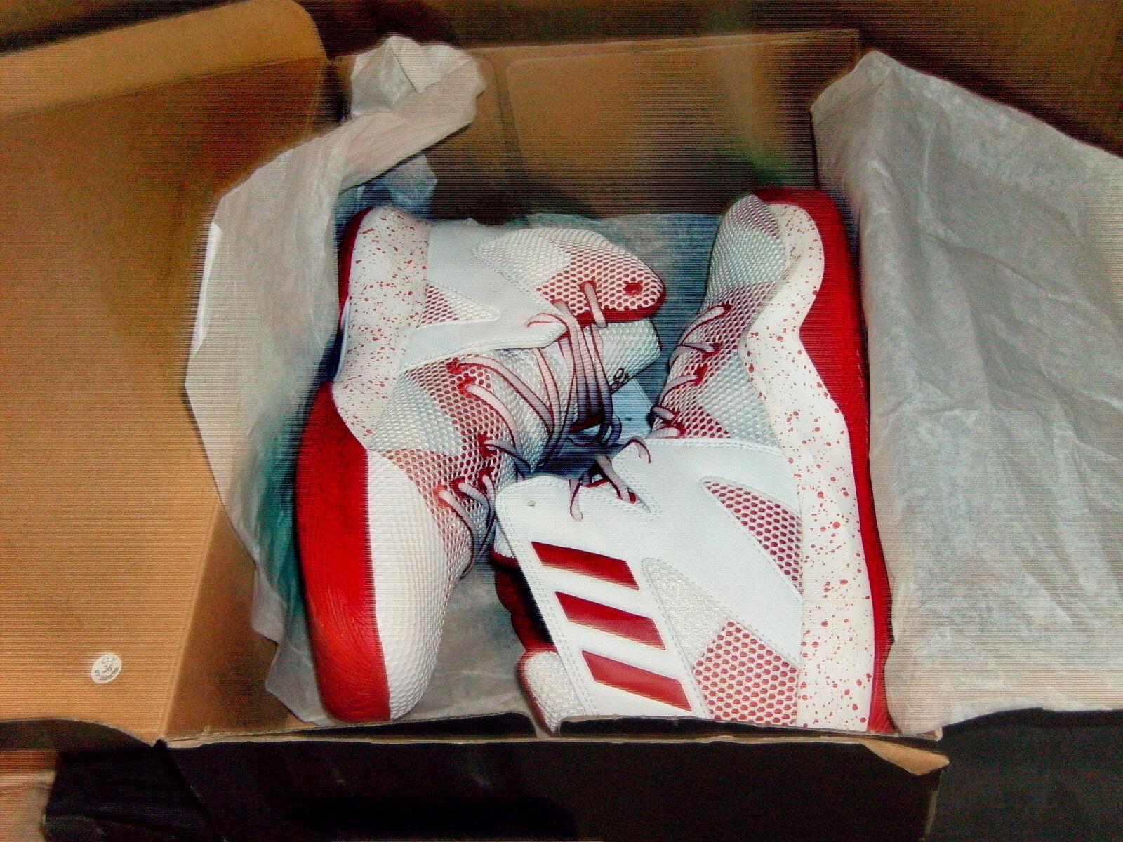 Adidas REAL Mens SM Crazy Crazy Crazy Bounce Basketball NBA Whi Red or Whi Pur NWB 50%OFF. e5c696