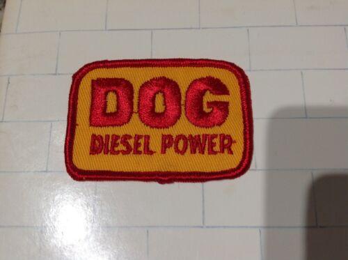 Vintage DOG DIESEL POWER Patch Stitched Embroidered NOS Truck Trucker Trucking