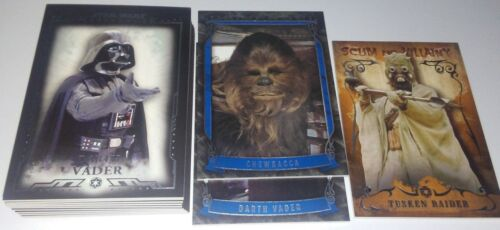 2015 Topps Star Wars Masterworks 13card lot base card and insert+ high #