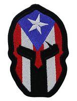 Spartan Puerto Rican Flag Biker Mc Patch