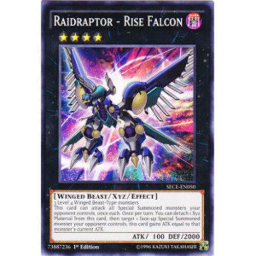 Common Raidraptor SECE-EN050 Yugioh Rise Falcon 1st Edition Near Mint,