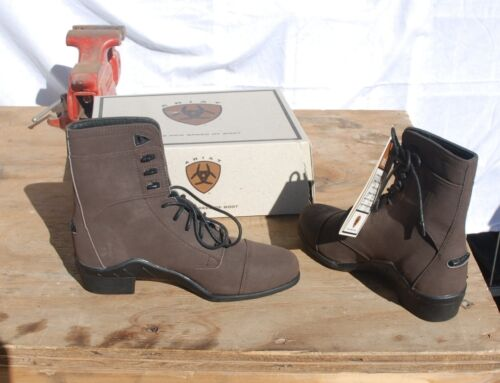 4-54 Ariat Womens Freestyle 6 Sport Paddock Boot  was 94.95 new in box CHOCOLATE
