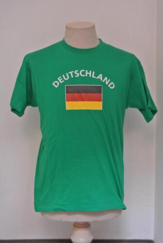 Deutschland Unisex Fun T-Shirt grün Fasching Mallorca Funshirt Fußball WM EM