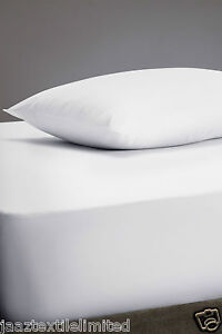"16"" Inches Extra Deep Fitted Sheet 100% Egyptian Percale Quality Cotton All Size"