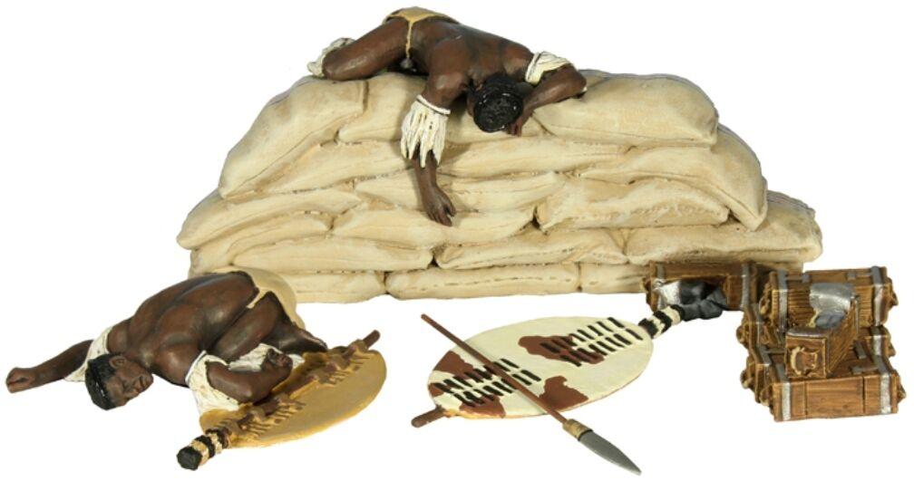 Britains Anglo Zulu Krieg 20127 Dead ZULU'S auf Sand Beutel MIB