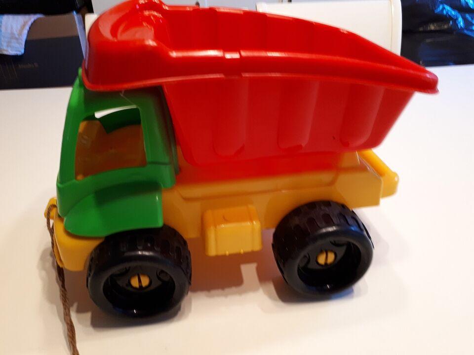 Rød/gul plast ladvogn