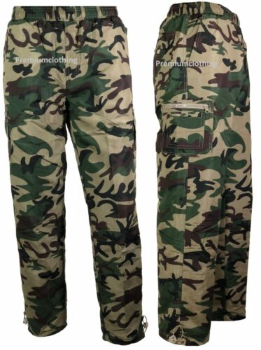 Homme Thermal Doublé Pantalon Plain Camouflage Pantalon de survêtement motif Pantalon Polaire Pantalon 3xll