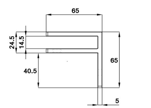 Clamp 10-12mm Duplex Stainless Steel Wall to Glass Balustrade Stiffener